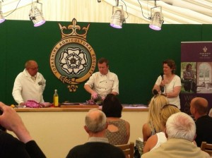 Ashley and Steph Circus of Food chef demo cookery theatre Leeds food Festival yorkshire