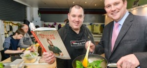 Simon  from Jamie Oliver's Ministry of Food Circus-of-Food-chef-demo-cookery-theatre-Leeds-food-Festival-yorkshire